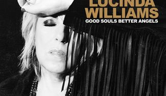 """This cover image released by Highway 20/Thirty Tigers shows """"Good Souls Better Angels"""" by Lucinda Williams. (Highway 20/Thirty Tigers via AP)"""