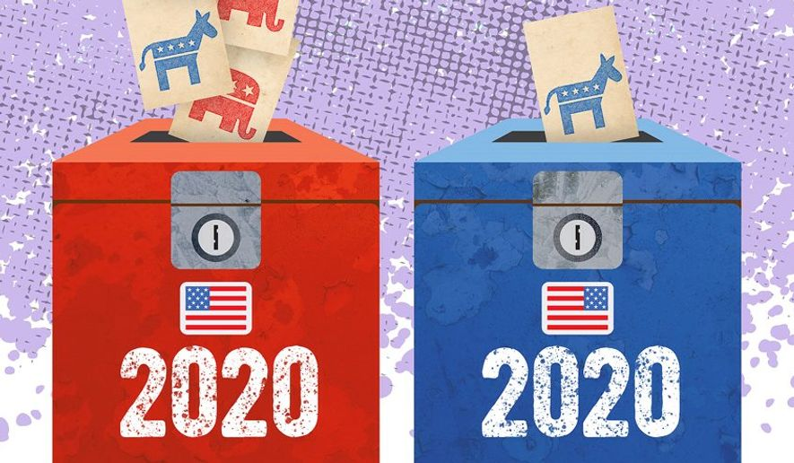Votes turning from Blue to Red Illustration by Greg Groesch/The Washington Times