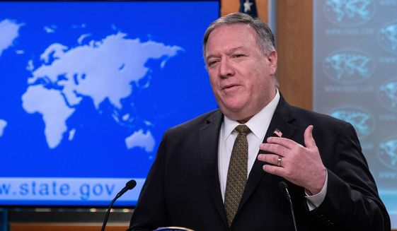 "Secretary of State Mike Pompeo, demanding access to the Wuhan Institute of Virology, said, ""Remember, this isn't the first time we've had a virus come out of China."" (Associated Press)"