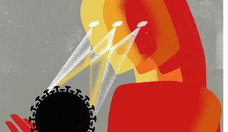 China, Iran and North Korea stay focused during COVID-19 pandemic illustration by Linas Garsys / The Washington Times