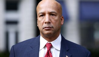 FILE - In this Jan. 27, 2014, file photo, former New Orleans Mayor Ray Nagin arrives at the Hale Boggs Federal Building in New Orleans. Nagin, convicted in a corruption case and sentenced to 10 years in prison in 2014, was released early due to the coronavirus pandemic. News outlets reported Nagin got out of federal prison Monday, April 27, 2020. (AP Photo/Jonathan Bachman, File)
