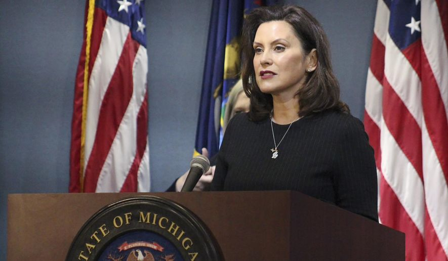 Michigan House authorizes Gretchen Whitmer lawsuit - Washington Times