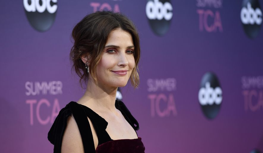 """FILE - In this Aug. 5, 2019 file photo, actress Cobie Smulders poses at the ABC Television Critics Association Summer Press Tour All-Star Party in West Hollywood, Calif. The coronavirus has led to the cancellation of the industry staple, a summer gathering that brings together TV critics and the makers of upcoming programs. The TCA said Friday that the event won't be held this year, citing the """"current state"""" of TV production. (Photo by Chris Pizzello/Invision/AP, File)"""