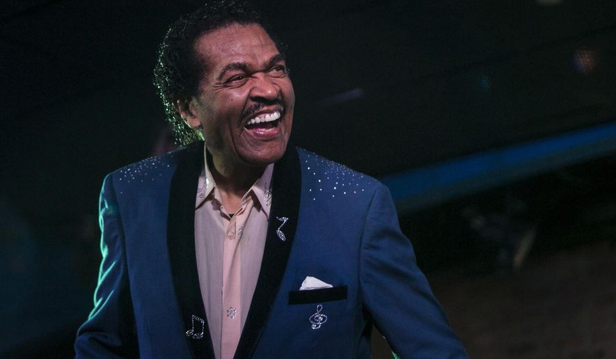 FILE - In this Thursday night, Jan. 4, 2018 file photo, Bobby Rush performs at the opening night, a benefit for PCaBlue, at Buddy Guy's Legends in Chicago. Blues mainstay Bobby Rush, who has said he has suffered from symptoms of the new coronavirus, won the soul blues album category in the Blues Music Awards Sunday, May 3, 2020. The awards show Sunday was moved online due to the coronanavirus outbreak. (Ashlee Rezin/Chicago Sun-Times via AP, File)