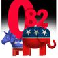 Illustration on the current lack of moderate Democrats by Alexander Hunter/The Washington Times