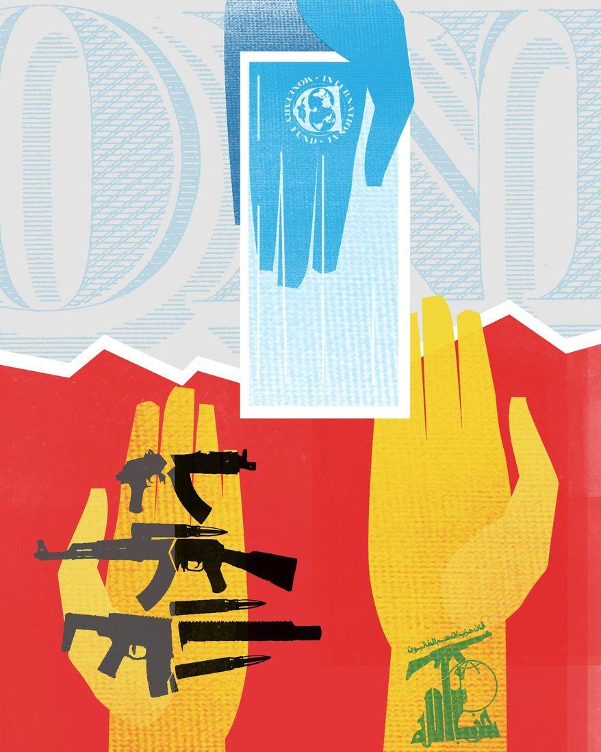 Illustration on Hezbollah by Linas Garsys/The Washington Times
