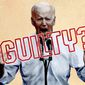 Biden Guilty or Not Illustration by Greg Groesch/The Washington Times