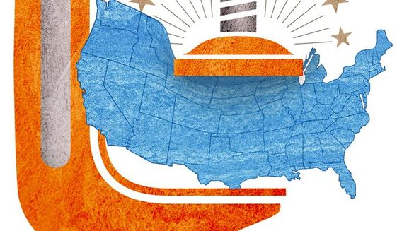 Clamped Flyover States Illustration by Greg Groesch/The Washington Times