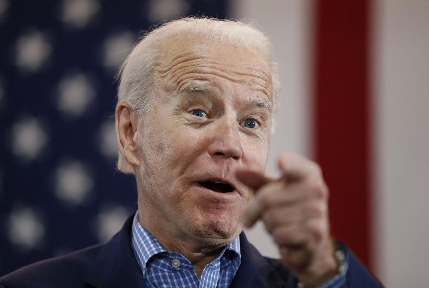 Democratic presidential candidate former Vice President Joe Biden speaks during a caucus night event in Las Vegas, Feb. 22, 2020. (AP Photo/John Locher) **FILE**