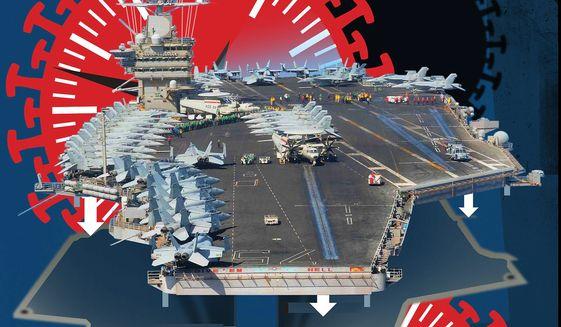 Embracing military innovation to protect America illustration by Linas Garsys / The Washington Times