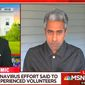 """Morning Joe"" co-host Willie Geist speaks with MSNBC contributor Anand Giridharadas about the relationship between American citizens and the federal government during the coronavirus pandemic, May 6, 2020. (Image: MSNBC video screenshot)"