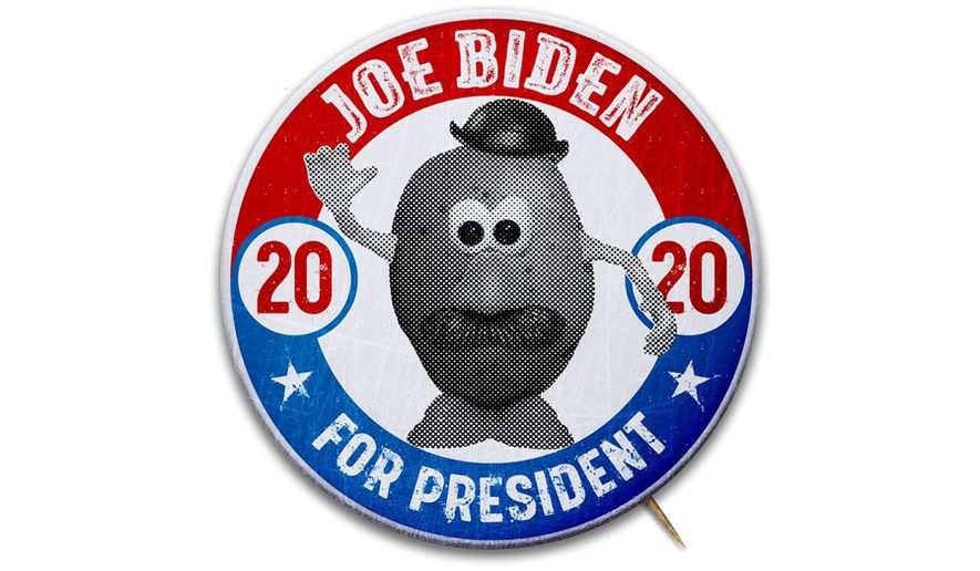 Biden Campaign Button Illustration by Greg Groesch/The Washington Times