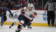 Washington Capitals left wing Brendan Leipsic (28) in the second period of an NHL hockey game Thursday, Feb. 13, 2020, in Denver. (AP Photo/David Zalubowski) ** FILE **
