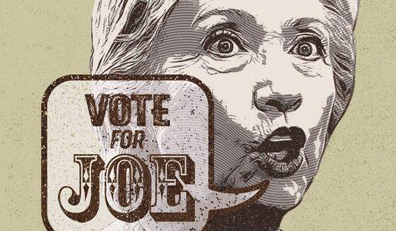 Hillary Endorsement Illustration by Greg Groesch/The Washington Times