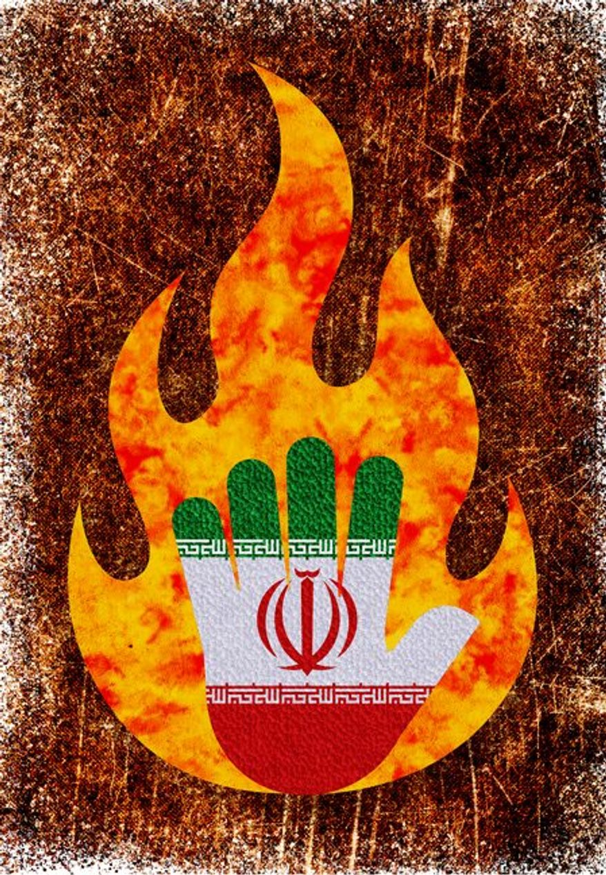 Hand to the Flame Illustration by Greg Groesch/The Washington Times