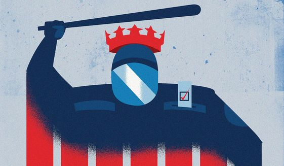 Illustration on tyrants sidestepping the Constitution by Linas Garsys/The Washington Times