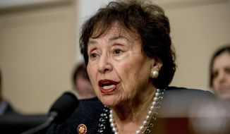 In this March 10, 2020, file photo, full committee Chairwoman Nita Lowey, D-N.Y., speaks during a House Appropriations subcommittee hearing on the Centers for Disease Control and Prevention budget on Capitol Hill in Washington. (AP Photo/Andrew Harnik, File)