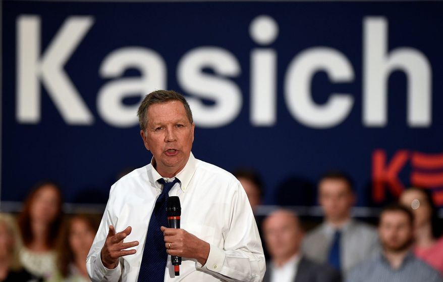 """Former Ohio Gov. John Kasich may be associated with a group called """"Republicans for Biden,"""" according to the Daily Beast. (Associated Press)"""