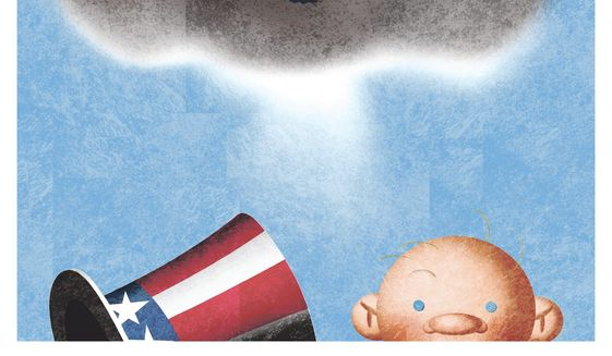 Illustration on some unexpected benefits of the pandemic by Alexander Hunter/The Washington Times