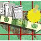 Illustration on factors affecting U.S. economic growth by Alexander Hunter/The Washington Times