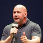 UFC President Dana White speaks at a news conference in New York, Sept. 19, 2019. (AP Photo/Gregory Payan) ** FILE **