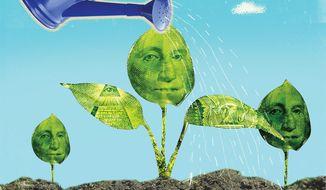 Illustration on a new, U.S.led economic coalition by Linas Garsys/The Washington Times