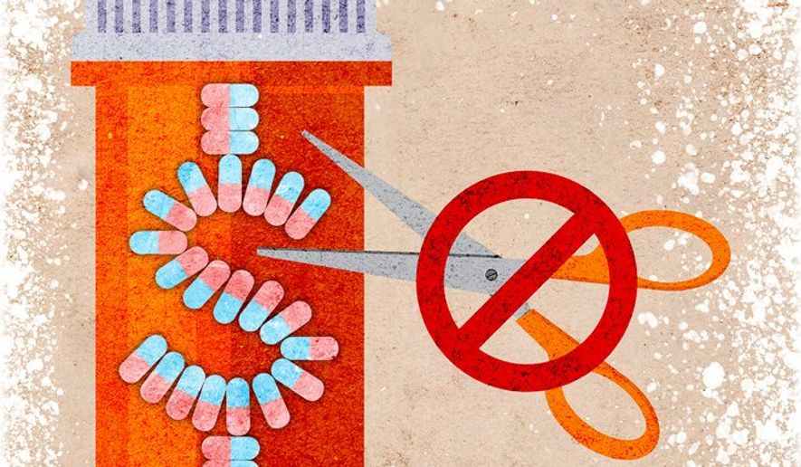 No Pharmacy Discount Illustration by Greg Groesch/The Washington Times