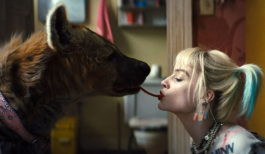 """Harley Quinn (Margot Robbie) and her new friend in """"Birds of Prey (And the Fantabulous Emancipation of One Harley Quinn),"""" now available on Blu-ray from Warner Bros. Home Entertainment."""