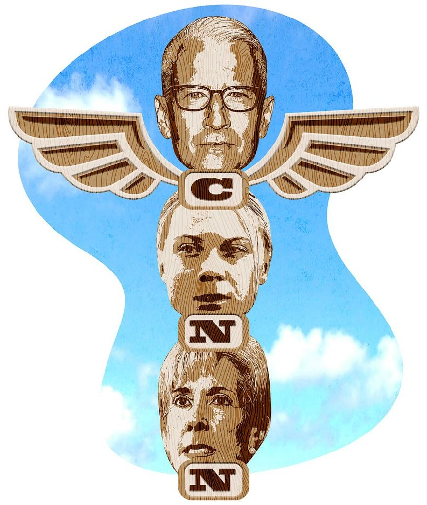 Illustration on the CNN panel of experts by Greg Groesch/The Washington Times