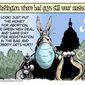 Washington, where bad guys still wear masks ... (Illustration by Alexander Hunter for The Washington Times)