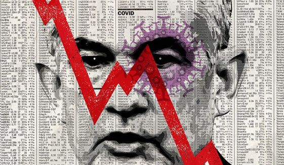 American Capitalism and the Virus Illustration by Greg Groesch/The Washington Times