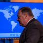 """""""We greatly underestimated the degree to which Beijing is ideologically and politically hostile to free nations. The whole world is waking up to that fact,"""" Secretary of State Mike Pompeo said Wednesday. (Associated Press)"""