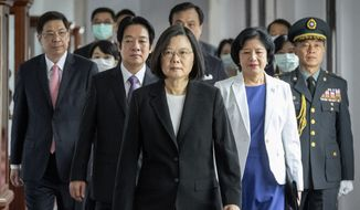 Taiwanese President Tsai Ing-wen has been accused by Chinese media of promoting formal independence from Beijing. (Associated Press/File)