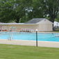 The swimming pool at Belair Swim & Racquet Club in Bowie, Maryland, sits empty on Wednesday, May 20, 2020. The member-owned club will not open on time due to the coronavirus pandemic. (Photo by Adam Zielonka / The Washington Times)