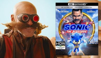 "Jim Carrey as Dr. Robotnic in ""Sonic the Hedgehog,"" now available on 4K Ultra HD from Paramount Pictures Home Entertainment."