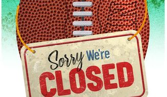 Football Closed Illustration by Greg Groesch/The Washington Times