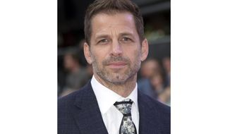 """FILE - This Aug. 3, 2016 file photo shows director Zack Snyder at the premiere of """"Suicide Squad"""" in London. Warner Bros. Pictures say that Snyder's cut of 2017′s """"Justice League"""" will debut next year on the streaming service HBO Max.  (AP Photo/Joel Ryan, File)"""