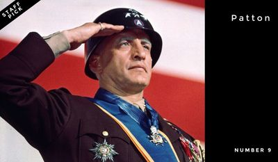 Number 9: Patton | Actor George C. Scott played legendary U.S. Gen. George Patton in the 1970 film that was added to the U.S. National Film Registry in 2003.