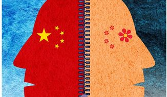 China Two-face Illustration by Greg Groesch/The Washington Times