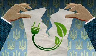 Ukraine Green Energy Contract Illustration by Greg Groesch/The Washington Times