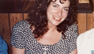 This photo provided by Tara Reade, shows Tara Reade out with friends in Washington, in 1992 or 1993, during the time she worked for then-Sen. Joe Biden, D-Del. (Tara Reade via AP). ** FILE **