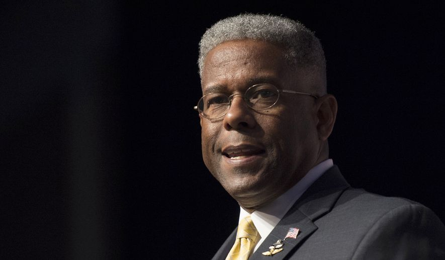 In this Thursday, June 19, 2014, file photo, former congressman and retired Lt. Col. Allen West speaks during Faith and Freedom Coalition's Road to Majority event in Washington.  (AP Photo/Molly Riley, File)  **FILE**