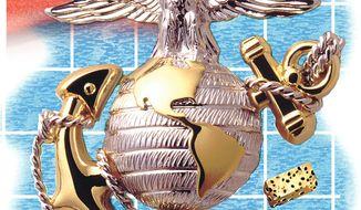 Illustration on the flexibility of the USMC by Alexander Hunter/The Washington Times