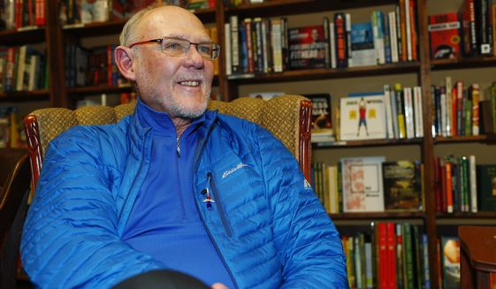 "FILE - In this Jan. 18, 2017, file photo, former NBA head coach George Karl talks about his new book, ""Furious George,"" during an interview before a book signing event at a book store in east Denver. Karl has not felt this healthy in nearly two decades. He is playing tons of golf, bike riding, working out and doing some yoga. The longtime NBA coach who has fought cancer three times is living a quasi-retired sort of lifestyle. But the recently turned 69-year-old is far from retired. (AP Photo/David Zalubowski, File)"