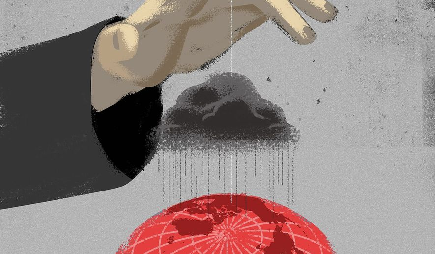 Communist China's imperialist dreams illustration by Linas Garsys / The Washington Times