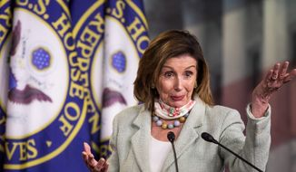 House Speaker Nancy Pelosi's proxy voting rules were used by lawmakers Wednesday for the first time in the chamber's 231-year history. House Minority Leader Kevin McCarthy said the rules marred any measure moving through the chamber. (Associated Press)