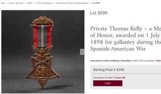 Auction house Hermann Historica's plans to sell a Spanish-American War vintage Congressional Medal of Honor has raised the objection of Sen. Ted Cruz, who is calling on the U.S. State Department to intercede to convince the German company to cancel the sale [SCREEN CAPTURE/Hermann-historica.de] (https://www.hermann-historica.de/en/auctions/lot/id/72055)