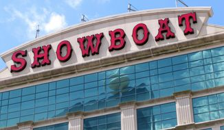 This June 8, 2016 photo shows the exterior of the former Showboat casino in Atlantic City, N.J. Philadelphia developer Bart Blatstein, the owner of the Showboat hotel said, Wednesday, May 27, 2020, that he is planning a $100 million year-round indoor water park next door to it, and will break ground on the project in August. (AP Photo/Wayne Parry)