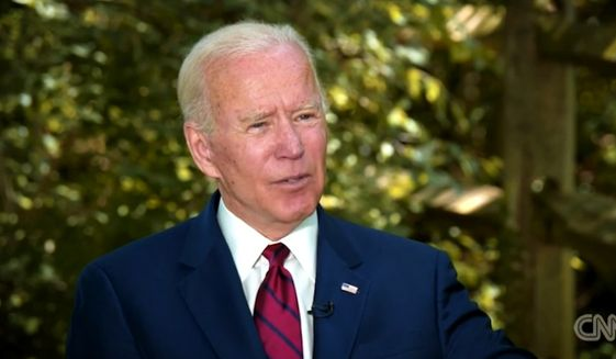 "Presumptive Democratic presidential nominee Joe Biden said Tuesday, May 27, 2020, that he responded ""in kind"" to radio host Charlamagne tha God when he made the controversial ""you ain't black"" remark last week on ""The Breakfast Club."" (screengrab via CNN)"
