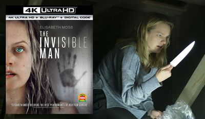 """Elizabeth Moss stars as Cecilia, an abused wife who battles an invisible stalker in """"The Invisible Man,"""" now available on 4K Ultra HD from Universal Studios Home Entertainment."""